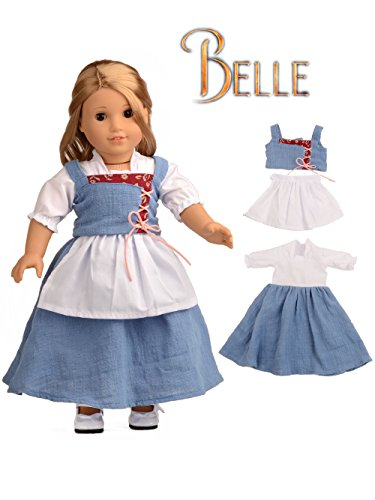 Sweet Dolly Doll Clothes Belle Village Dress for 18 Inch American Girl Dolls]()