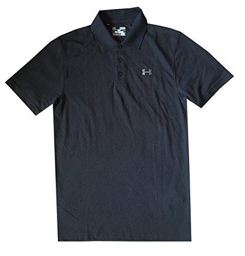 Under Armour Men UA Golf Cotton Blend Polo T-Shirt (M, Black)
