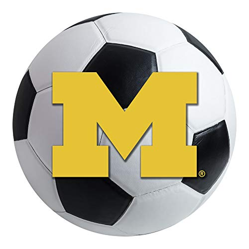 FANMATS NCAA University of Michigan Wolverines Nylon Face Soccer Ball Rug (Michigan University Soccer Ball)
