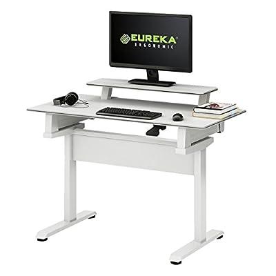 "Eureka Ergonomic Height-Adjustable Standing Desk Full Sit-Stand Desktop 46"""