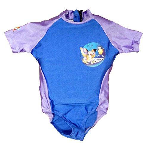 Speedo Toddler Girls Blue & Purple Polywog Swimming Suit Swim Trainer Flotation