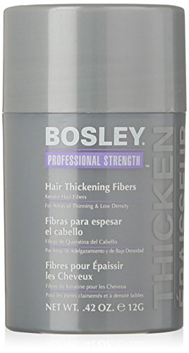 Bosley Professional Strength Hair Thickening Fibers, Light Brown, 0.42 oz by Bosley Professional Strength