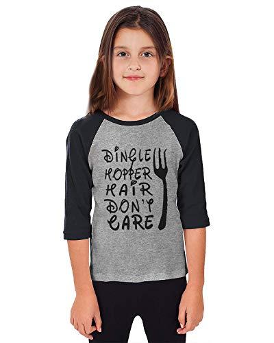 Fanient Unisex Baby Girls Baseball 3/4 Sleeve Blouse Dingle Hopper Hair Don't Care Tee Splice Jersey Tee Raglan T-Shirt 3-4 T ()
