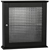 Elegant Home Fashions Chesterfield Medicine Cabinet with One Glass Door