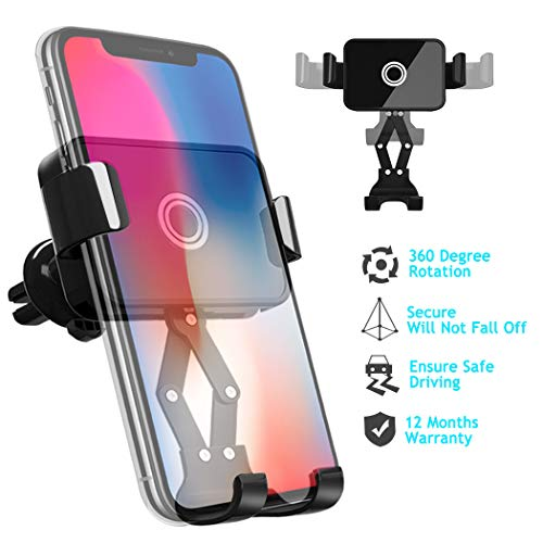 Loncaster Car Phone Mount, Universal Air Vent Cell Phone Holder for Car, Auto Lock & Release Car Phone Holder for iPhone 11 Pro Max XS MAX XR X 8 8 Plus, Samsung Galaxy S 7 8 9 10 and More