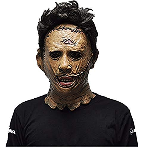 The Texas Chainsaw Massacre Leatherface Masks Scary Movie Cosplay Halloween Costume Props Toys]()