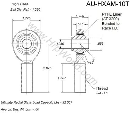Details about  /Aurora Bearing MB-5 Rod End