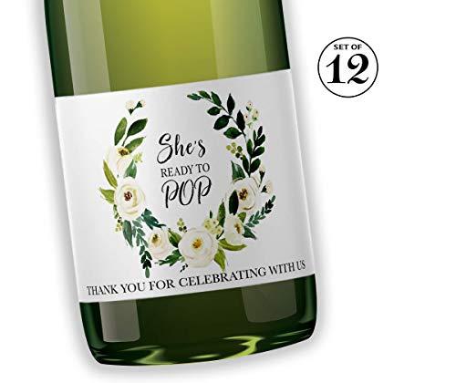 GENDER NEUTRAL Baby Shower Mini Champagne Labels ●