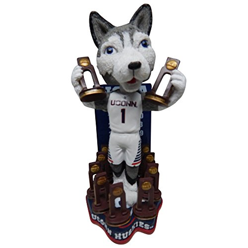 Forever Collectibles Jonathan The Husky Mascot UConn Huskies University of Connecticut NCAA Women's Basketball National Championship Series Bobblehead (Limited Edition of 216)