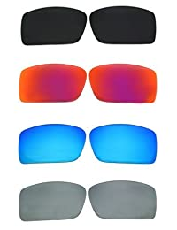 Set of 4 Polarized Replacement Lenses for Oakley Gascan Sunglasses NicelyFit