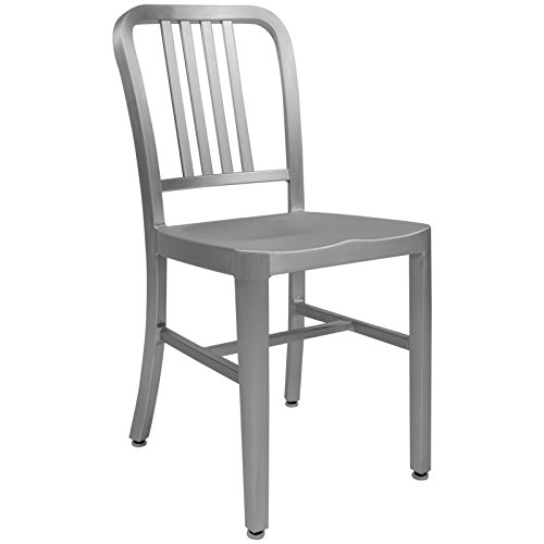 LeisureMod Salem Modern Dining Chair, Silver (Funky Dining Tables And Chairs)