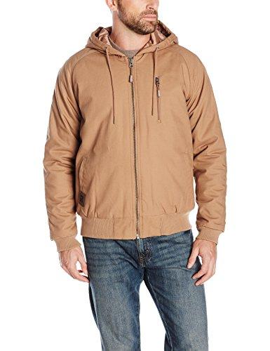 Wrangler RIGGS WORKWEAR Men's Utility Hooded Jacket, Rawhide, Small ()