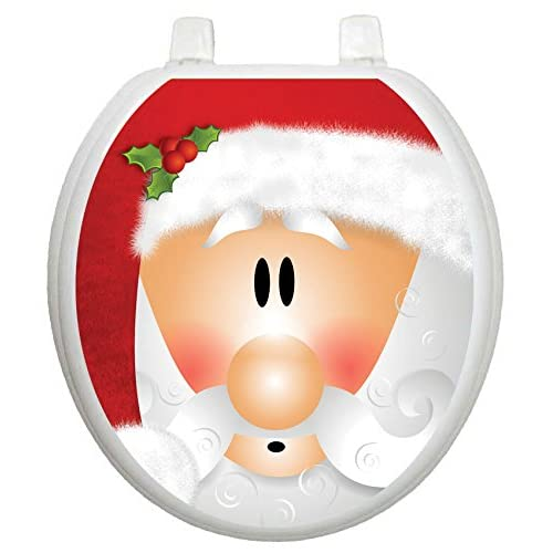 Toilet Tattoos TT-X630-R Santa Claus Toilet Lid Applique good