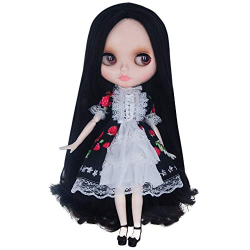 1/6 BJD Doll is Similar to Neo Blythe, 4-Color Changing Eyes Shiny Face and Ball Jointed Body Dolls, 12 Inch Customized Dolls with Five Hands, Nude Doll Sold Exclude Clothes (YM19)