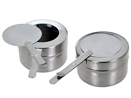 Premier Choice 10 Pack Stainless Steel 8 oz. Fuel Sterno Holder with Cover by Premier Choice