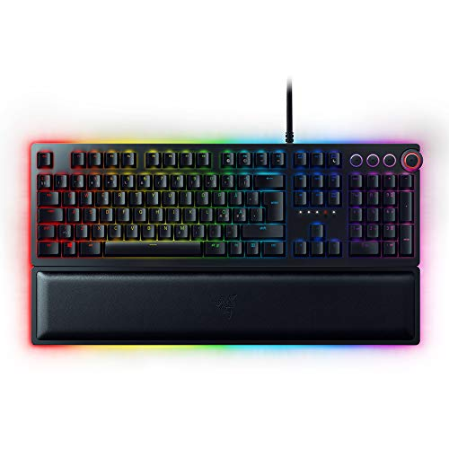 Razer Huntsman Elite: Opto-Mechanical Switch - Multi-Functional Digital Dial & Media Keys...