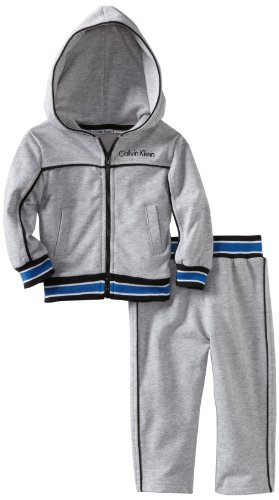 Calvin Klein Baby Boys' Heather Hooded Jacket With Pants