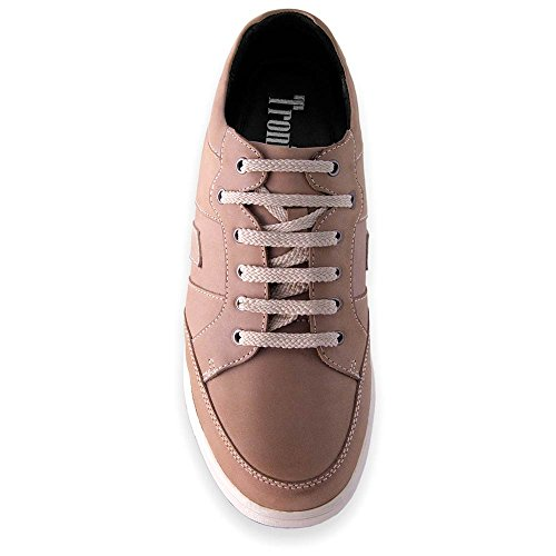 Scarpe con Rialzo per Uomo Che Aumentano l'Altezza Fino a 7 cm. Fabbricate in Pelle. Modello Ibiza A Beige