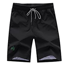 Deercon Men's Quick-Dry Swimwear Shorts Sports Beach Boardshorts(7 colors M-3XL)