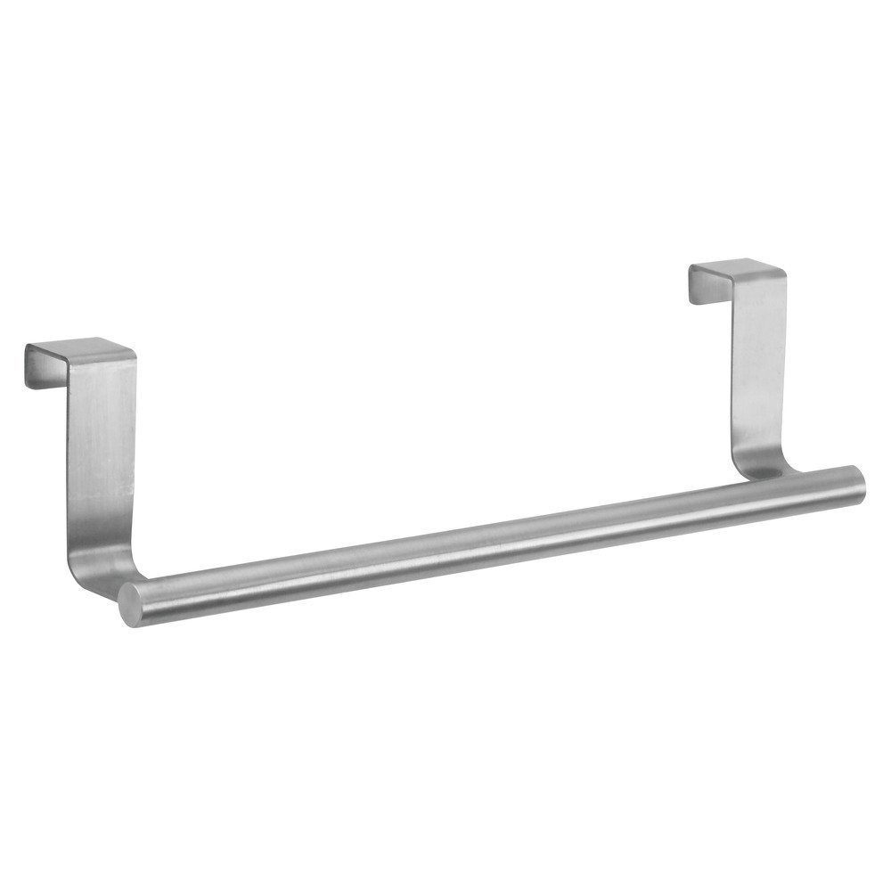InterDesign Forma Over-the-Cabinet Bathroom or Kitchen Towel Bar Holder - 9'', Brushed Stainless Steel