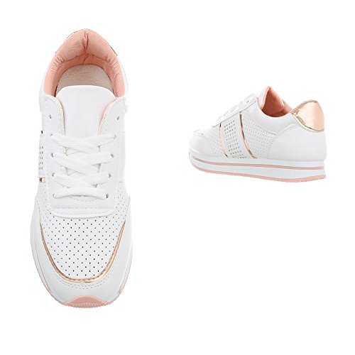 Mode design Espadrilles Ital Sneakers Baskets Blanc Plat Low Rl1715 Chaussures Femme Ew8qXx78