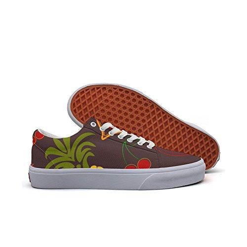 QJSY Mens' Fashion Canvas Sneaker Fruits In Riotous Profusion Low Cut Canvas Sports - Mens Van Noten Shoes Dries
