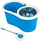 Balde Spin Mop Easy Clean 360 Cesto Inox Roxo