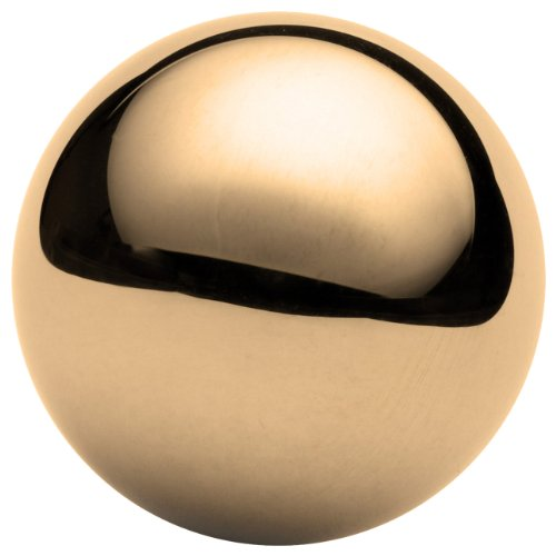 Brass Sphere, Grade G200, Mirror-Like Finish, Precision Tolerance, 5/8″ Diameter, 0.0002″ Sphericity (Pack of 10)