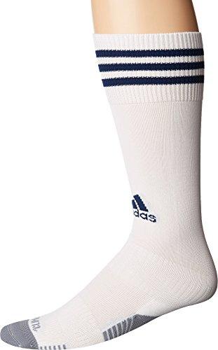 adidas Copa Zone Cushion III Soccer Socks (1-Pack), White/New Blue, Large