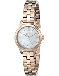 Caravelle New York Womens 44L156 Rose Gold-Tone Stainless Steel Watch