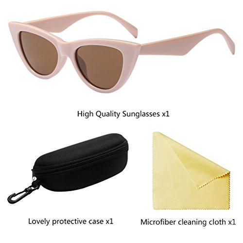 de Sol Pequeñas Khaki Style Eyes Eyewear para PC Mujer Lens Gafas Personalidad Moda Gafas Cat Zhhlaixing RvAqwgx