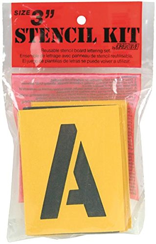 Decorcal 3SK Reusable Stencil Lettering Kit, 3-Inch