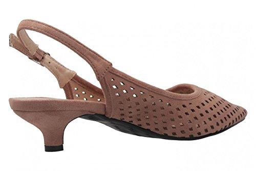 ANDRES MACHADO - Damen Slingback Pumps - Nude Schuhe in Übergrößen