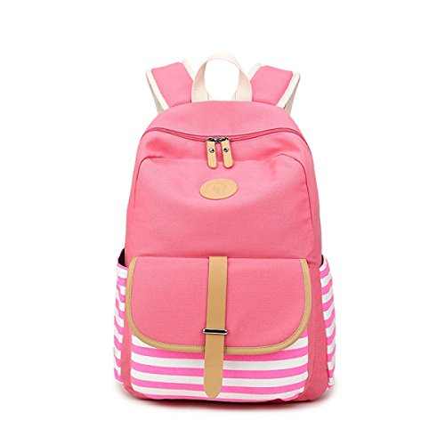 Bags Backpack Student Bag Pink Canvas
