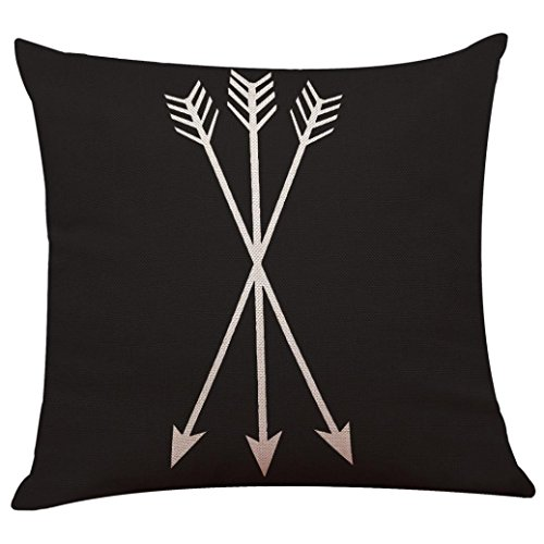 Pillow Cases ,IEason Clearance Sale! Vintage Black & White Cotton Linen Throw Cushion Cover Pillow Case Home Decor (C)