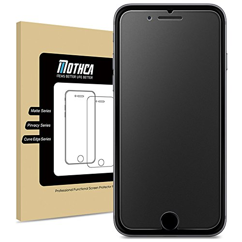 iPhone 8 Plus / 7 Plus Matte Glass Screen Protector, Mothca Anti-Glare & Anti-Fingerprint No Dazzling 9H Hardness HD Tempered Glass Shield Film for iPhone 8 Plus/7 Plus, Smooth as (Matte Screen Protector)