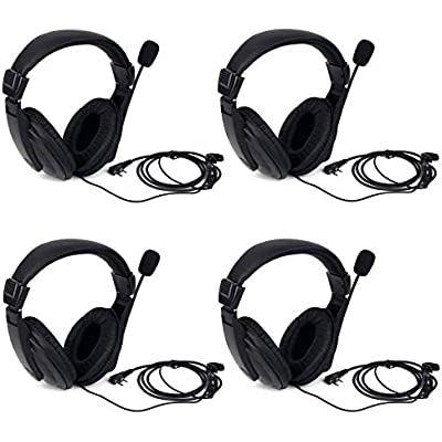 Retevis R114 Walkie Talkie Headset Noise Cancelling VOX Headphones Pin Radio Earpiece Compatible with Way Radio Retevis RT24 RT27 RT22 RT21 RT28 RT617 Baofeng BF-888S Kenwood Pcs