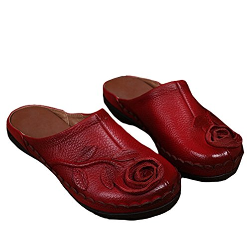 Y Pantuflas Matchlife red Style4 Zapatos Mujer ErEqzw5f