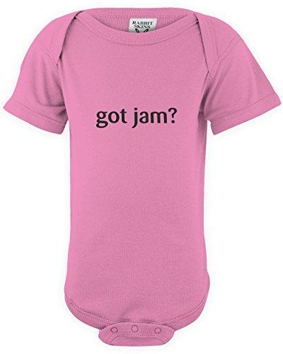 (shirtloco Baby Got Jam Infant Bodysuit, Raspberry Newborn)