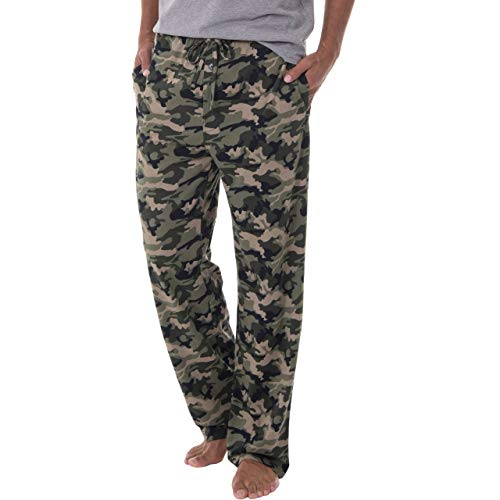 Fruit of the Loom Men's Extended Sizes Jersey Knit Sleep Pant, Green Camo, 4X (Mens Camo Clothing)