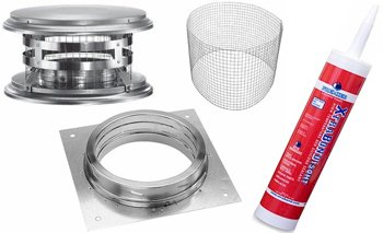 Pizza Oven Exhaust Kit. Stainless Steel DuraTech kit for BrickWood Ovens DIY Wood-Fired Pizza - Pizza Oven Form