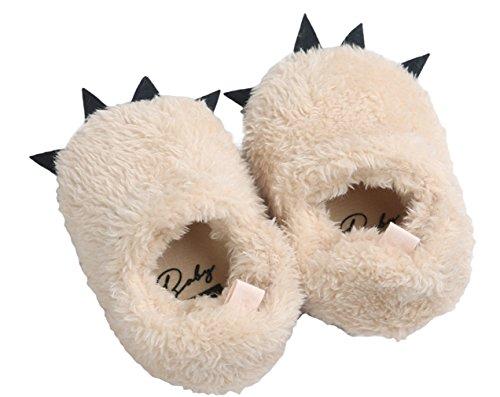 La Vogue Zapatos de Bebé Primera Pasos Monstruo Garra Pequeña Caqui