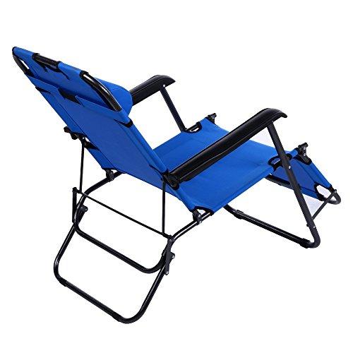 Cheesea Outdoor Folding Lounge Chair Leisure Luxury Steel