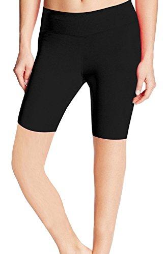 ABUSA Women's Cotton Workout Bike Yoga Shorts Tummy Control