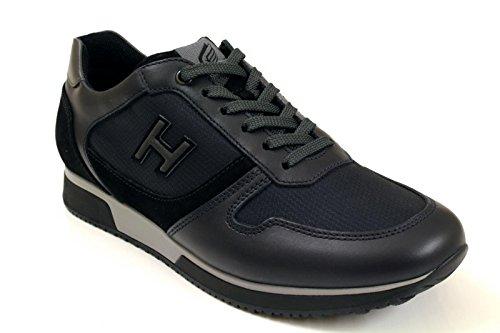 HOGAN HOMME HXM1980R970E67559S GRIS CUIR BASKETS