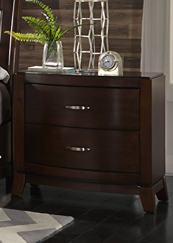 Liberty Furniture Avalon Bedroom 2-Drawer Night Stand, Dark Truffle Finish