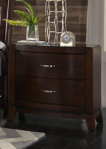 Liberty Furniture Avalon Bedroom 2-Drawer Night Stand, Dark Truffle Finish ()