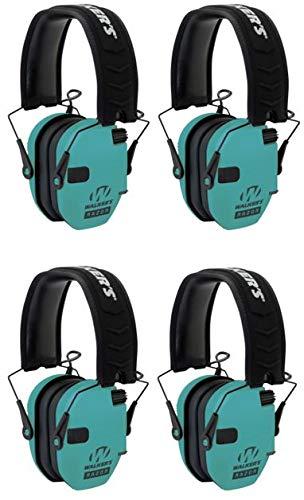 Walkers GWPRSEMLTL Razor Slim Electronic Earmuff 23 dB Light Teal - 4 Pack by Walker's Game Ear
