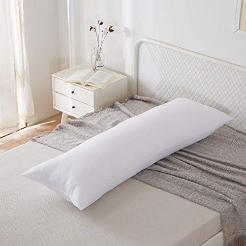 "Acanva Hypoallergenic Bed Sleeping Side Sleeper Body Pillow Insert, Extra-Long 20"" x 72"", White"