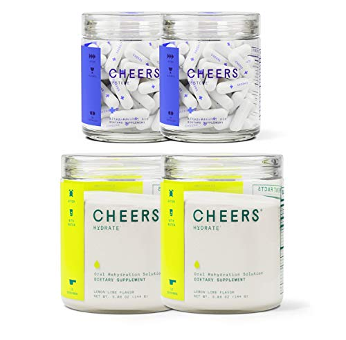 Cheers (Formerly Thrive+) After Alcohol Aid & ORS Combo | for Fast Alcohol Detox & Rehydration Recovery After Drinking Alcohol. Replenish with Our Electrolyte Formula ... (Double) (Best Detox After Drinking Alcohol)